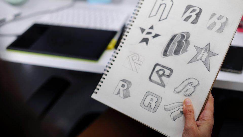 cara membuat desain logo