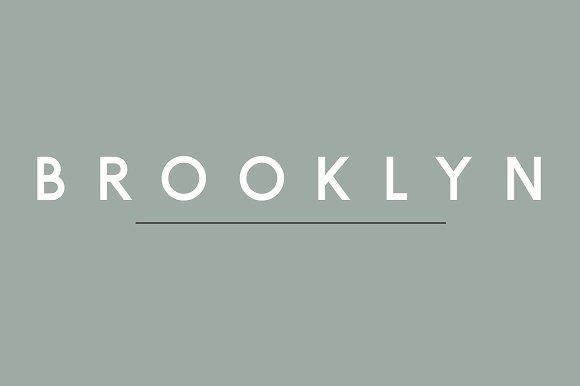 jenis font brooklyn