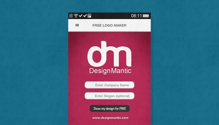design mantic aplikasi logo