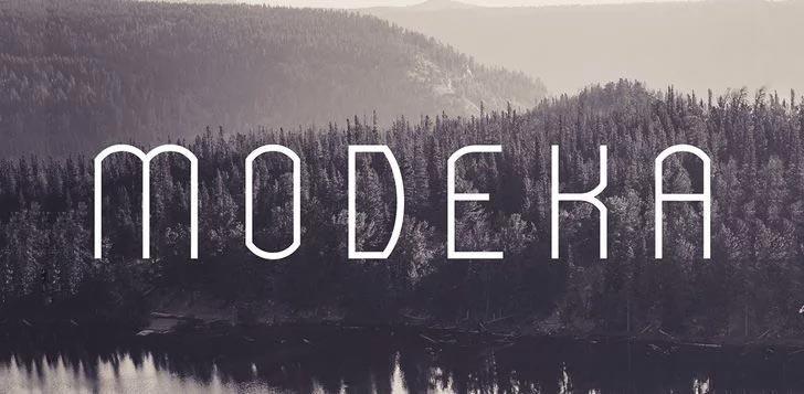jenis font modeka