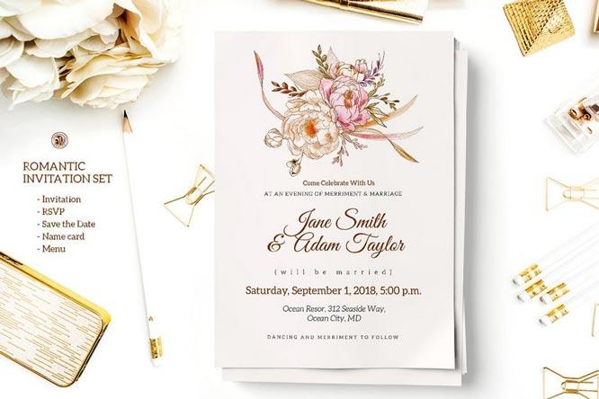 ilustrasi desain undangan