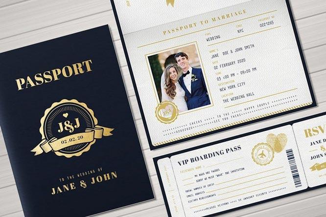 paspor desain undangan