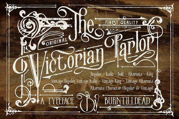 victorian parlor jenis font